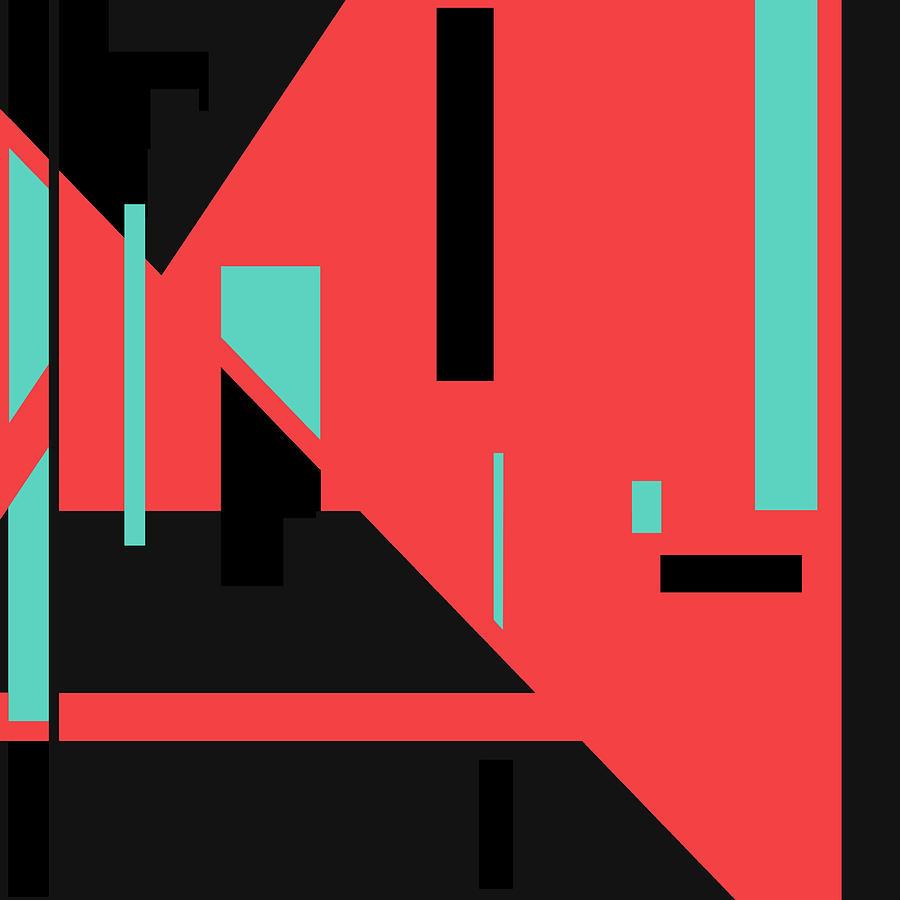 Red Black 015 by Elastic Pixels