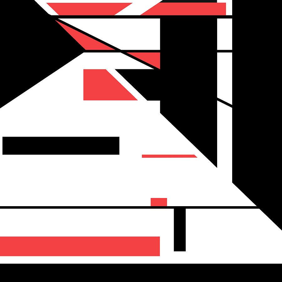 Red Black 016 by Elastic Pixels