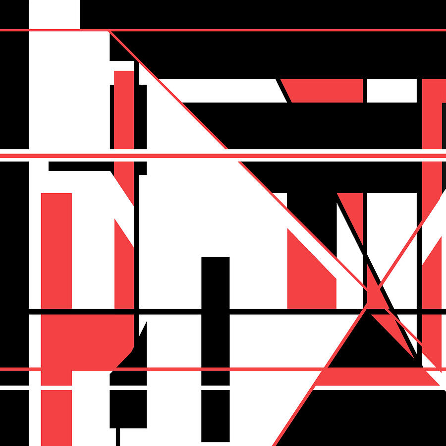 Red Black 017 by Elastic Pixels