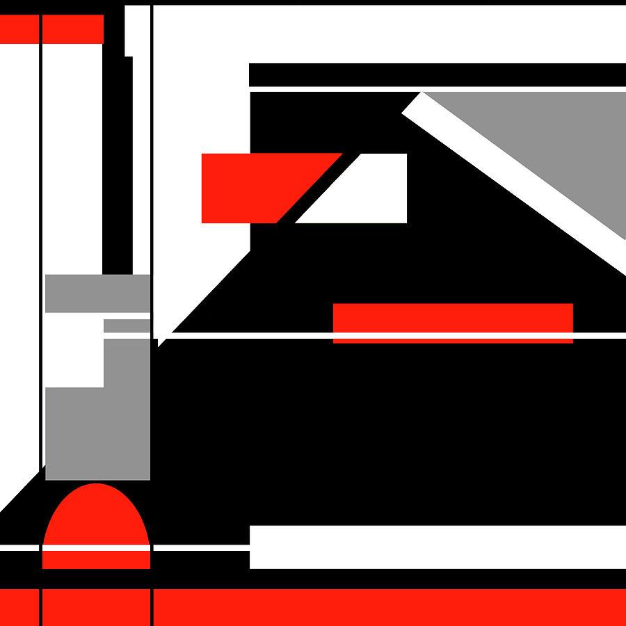Red Black 022 by Elastic Pixels