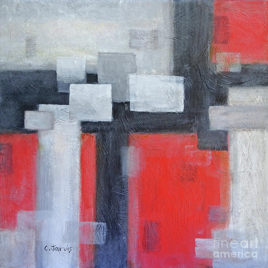 Red Black Grey by Carolyn Jarvis