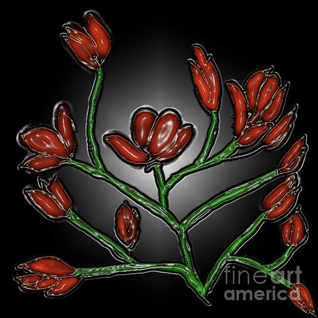 Red Flower Digital Art - Red Blossom by Latha Gokuldas Panicker