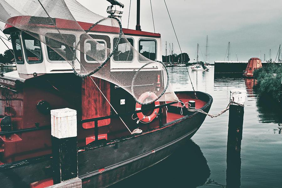 Red Boat Retro Photograph