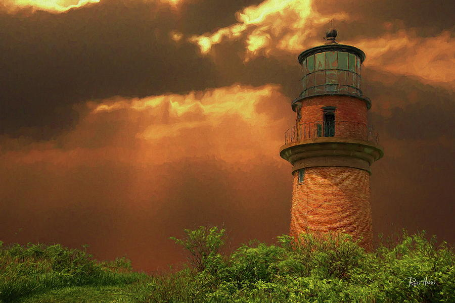 Red Brick Lighthouse by Russ Harris