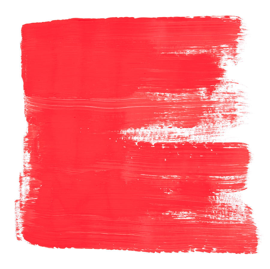 Red Brush Painted Frame Texture Digital Art by 4khz