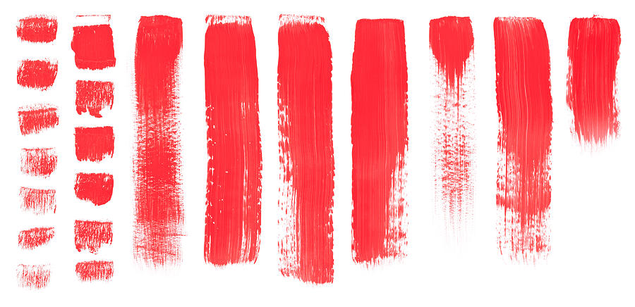 Red Brush Painted Texture Digital Art by 4khz