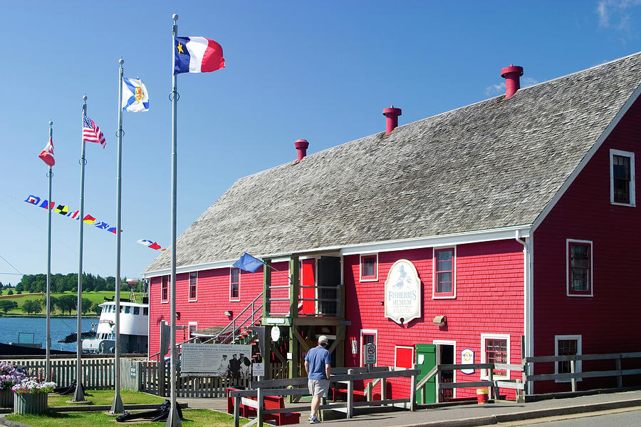 Red Building In Lunenburg Nova Scotia Photograph
