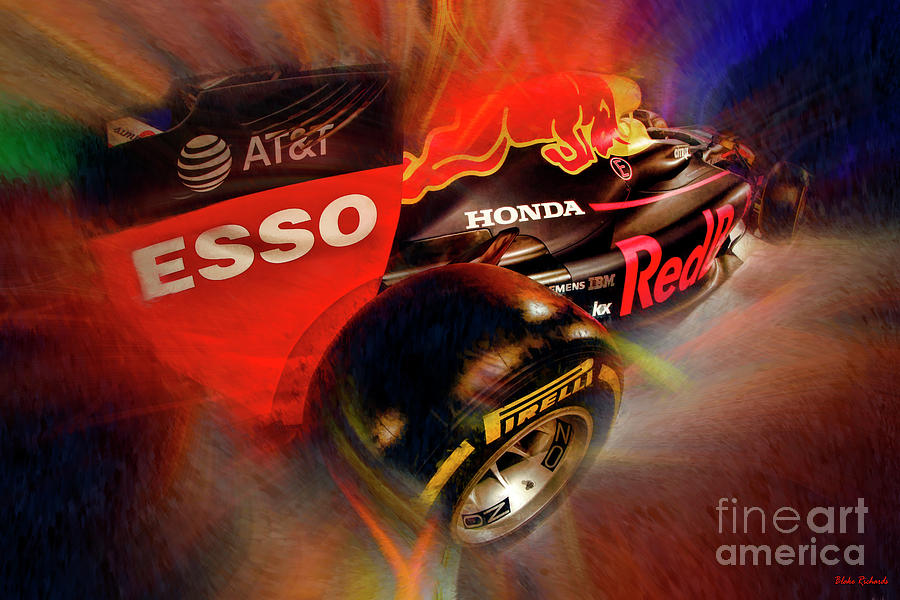 Red Bull Racing Formula One Car Rear Tire by Blake Richards