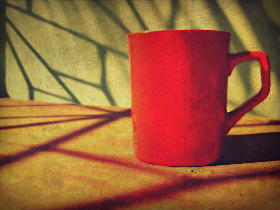 Red Coffee Cup In Sunshine Photograph by Jessica Lia