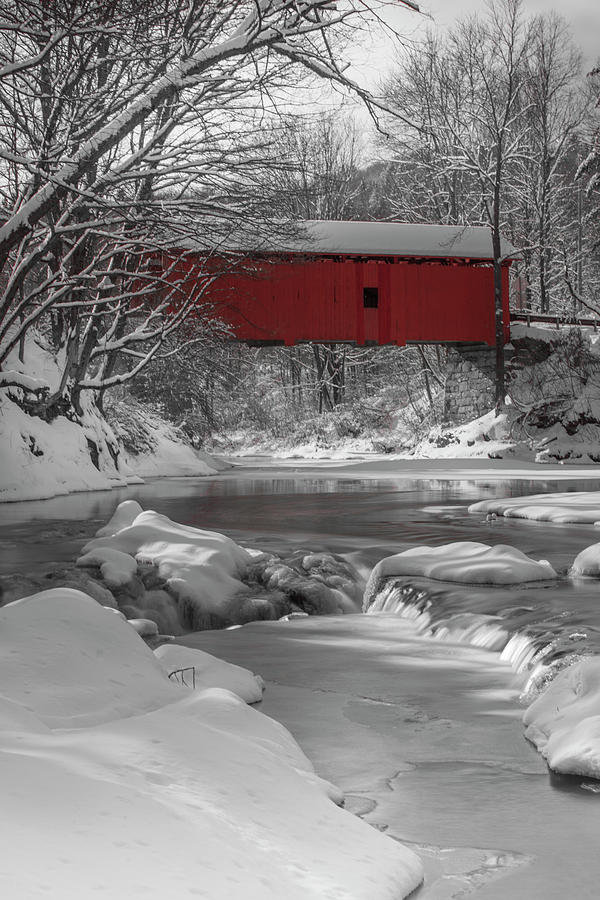 Red Covered Bridge by Rob Davies