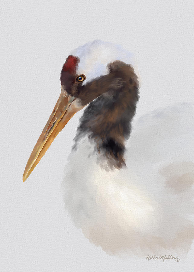 Red Crowned Crane by Kathie Miller