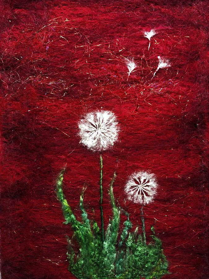 red dandelions by Ushma Sargeant