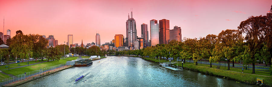 Red Dawn Over Melbourne by Sean Davey