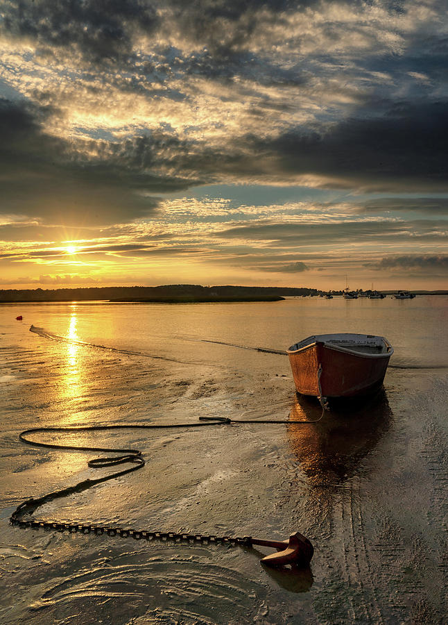 Red Dory Sunset by Darylann Leonard Photography