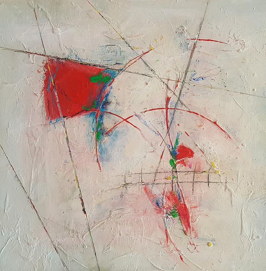 Abstract Painting - Red Escape by Ellen Kirwan