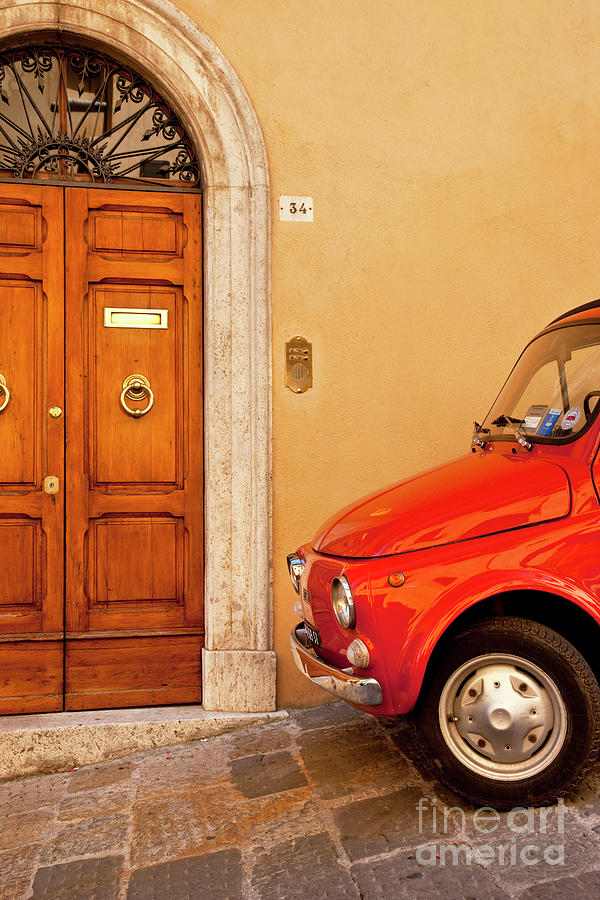 Red Fiat Photograph
