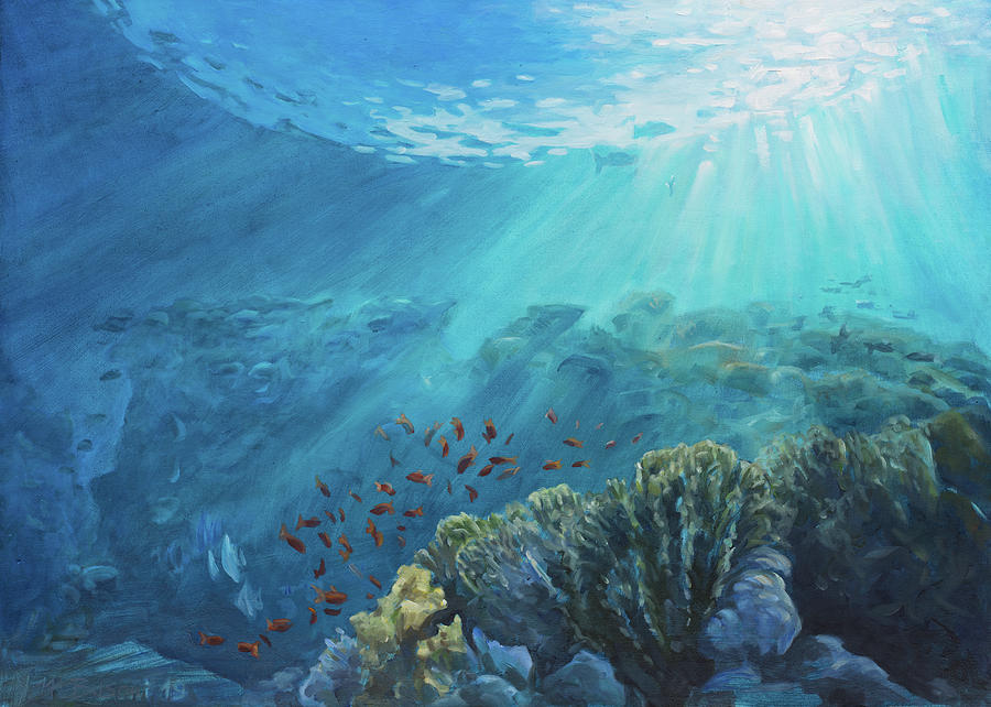 Red fishes running free by Marco Busoni