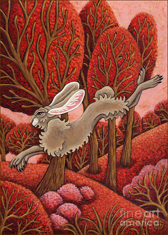 Red Forest Run by Amy E Fraser
