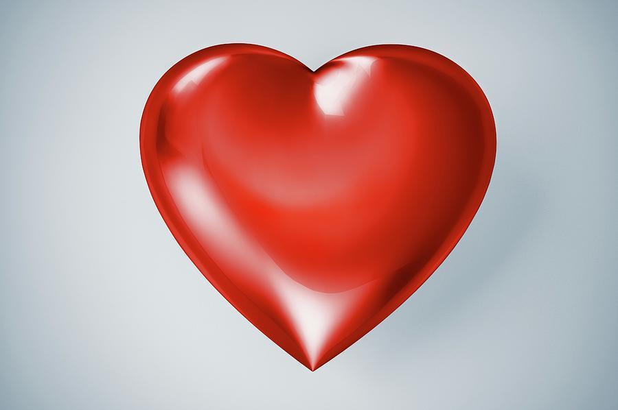 Red Heart, Artwork Digital Art by Leonello Calvetti