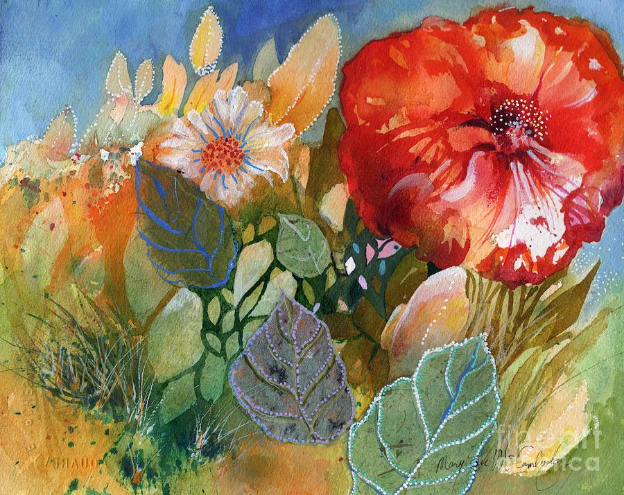 Red in the Garden by Mary Lou McCambridge