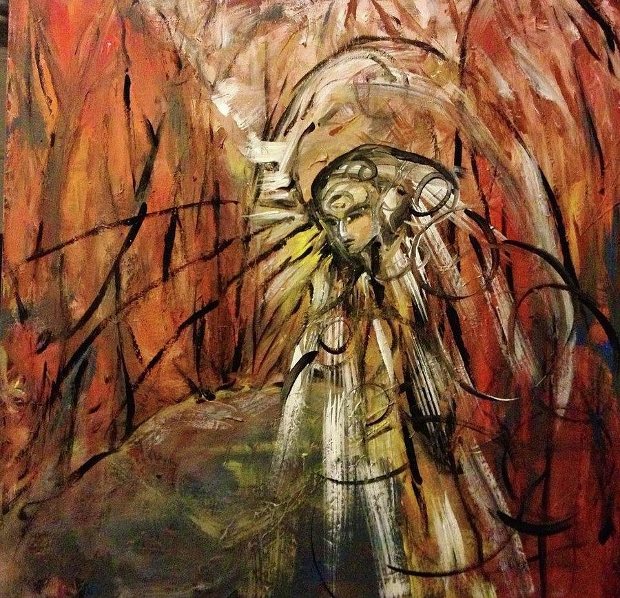 Red Mixed Media by Joy Beckler