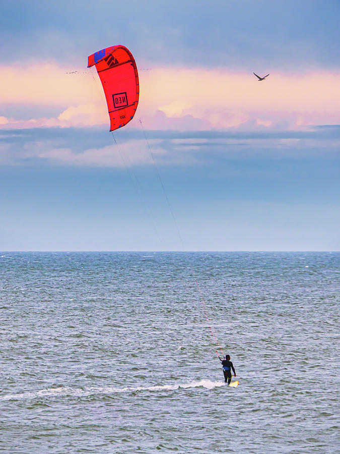 Red Kiteboarding by David Kay