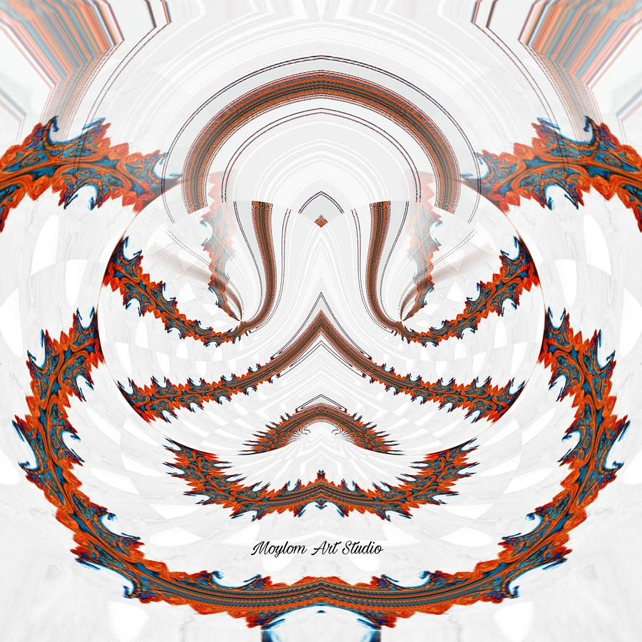 Red Land 7 Digital Art by Moylom Art Studio