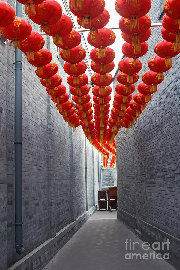 Luck Photograph - Red Lantern In The Alley,beijing by Long8614