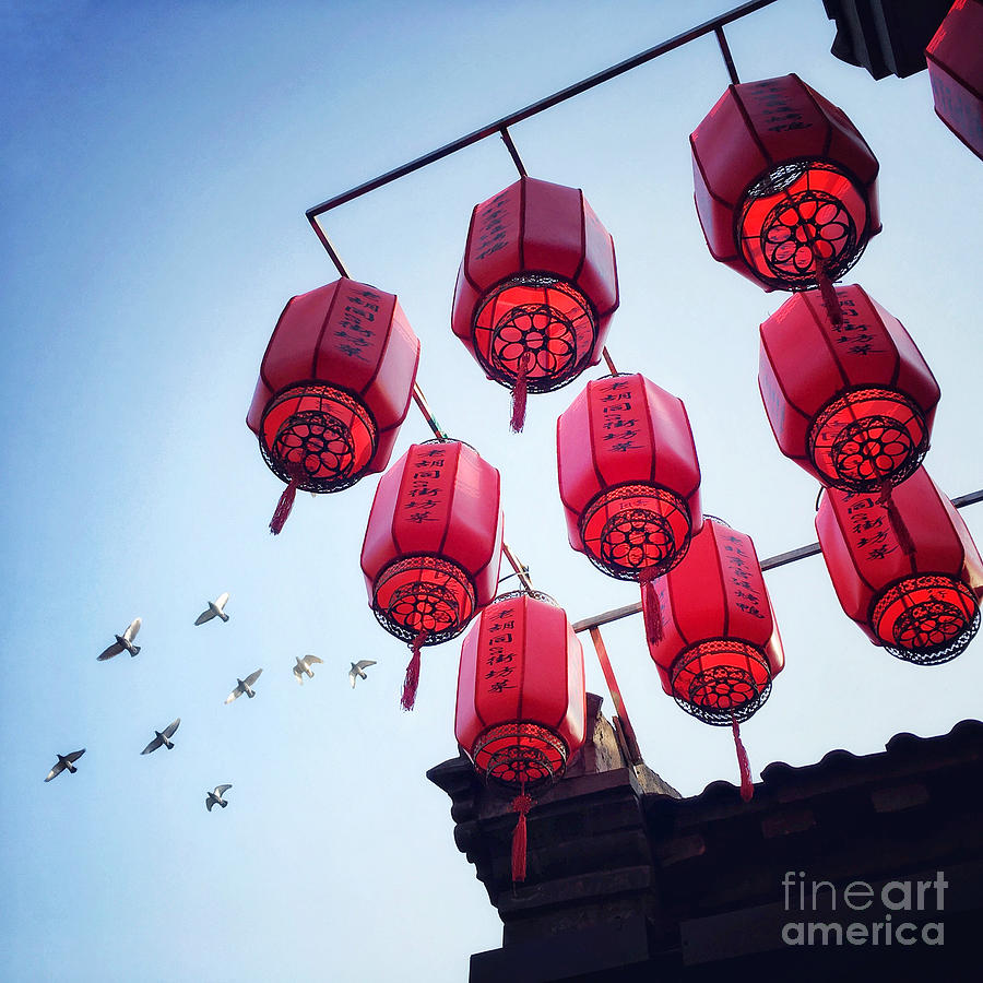 Red Lanterns by Iryna Liveoak