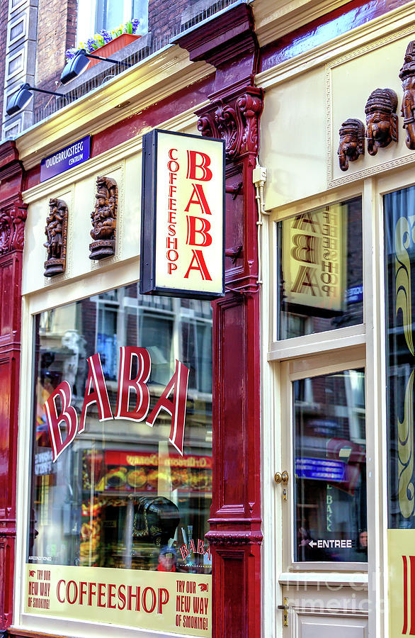 Red Light District Baba Coffeeshop in Amsterdam by John Rizzuto