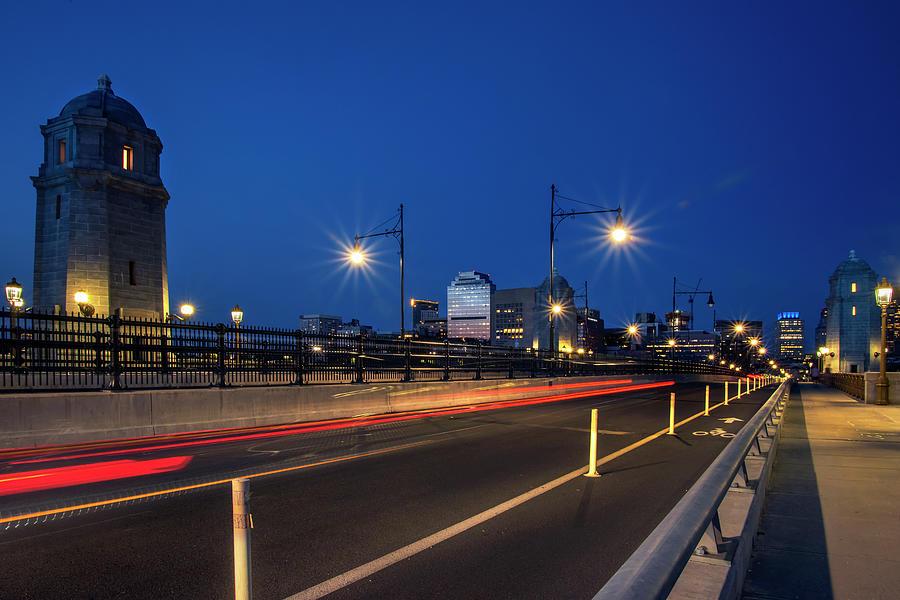 Red Line and the Longfellow Bridge - Boston by Joann Vitali