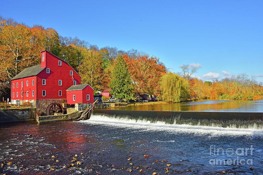 Red Mill of the Raritan River NJ by Regina Geoghan