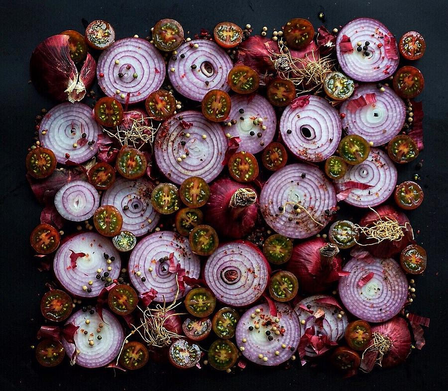 Red Onion and Tomato Salad by Sarah Phillips