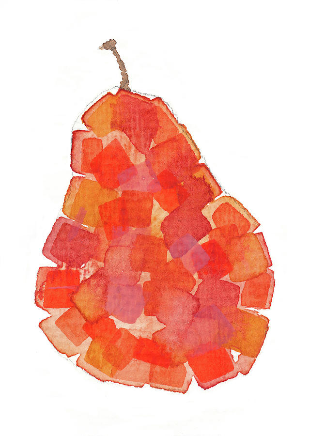 Pear Painting - Red Pear by Marty Klar