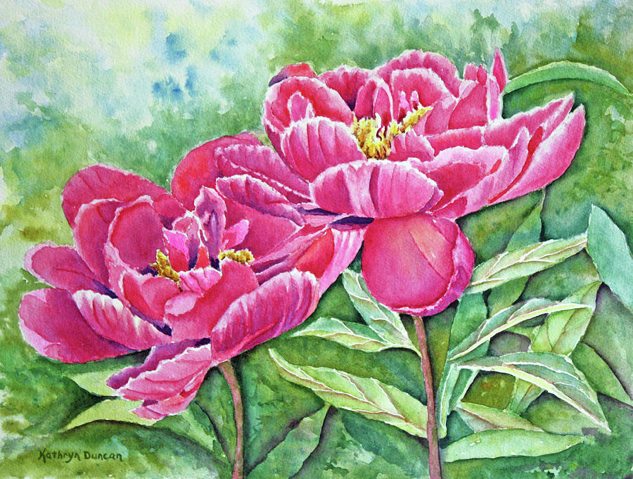 Red Peonies by Kathryn Duncan