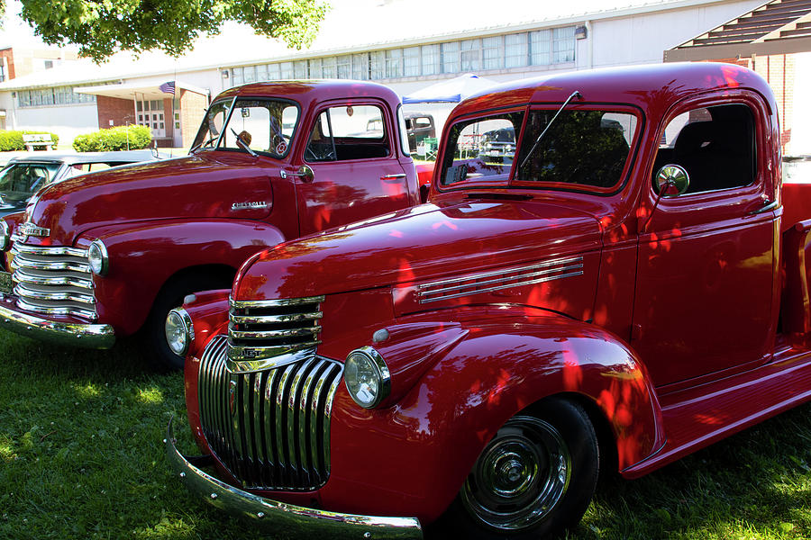 Red Pickups Photograph
