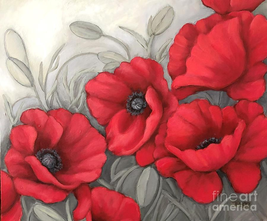 Red poppies by Inese Poga