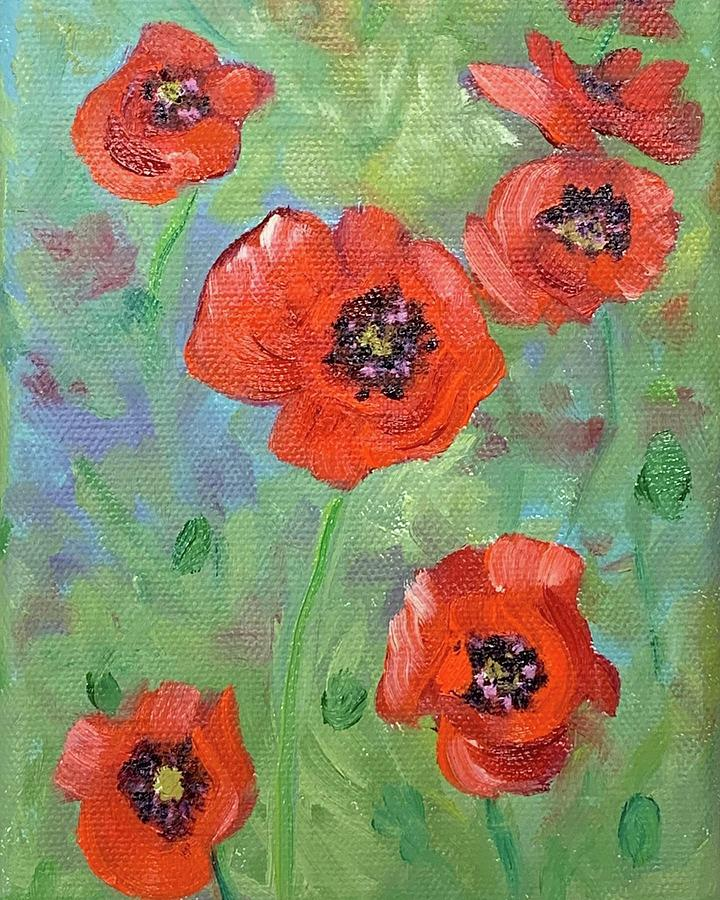 Red Poppies by Melissa Torres
