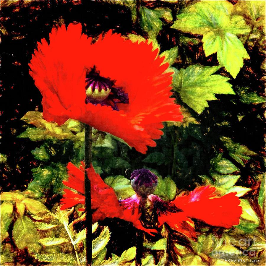 Red Poppies Digital Art