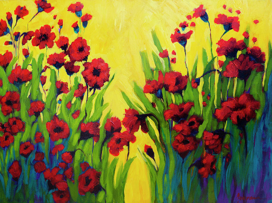Red Poppy field in Summer by Patricia Awapara