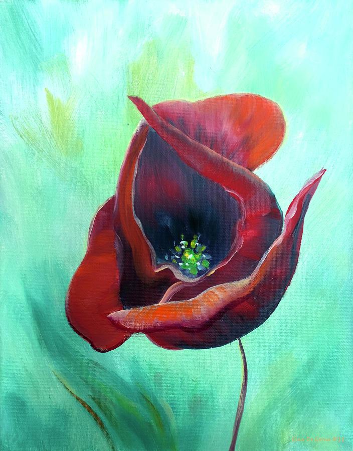 Red Poppy by Gina De Gorna