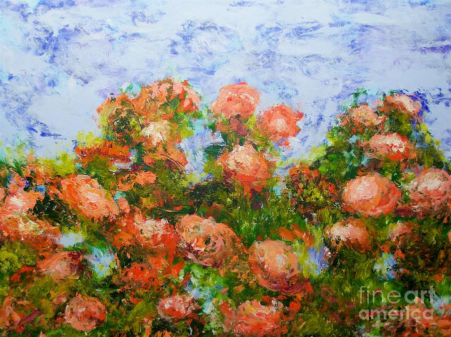 Red Ribbon Roses Painting