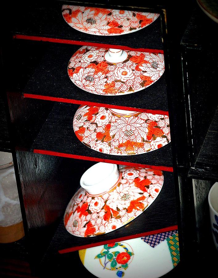 Red Rice Bowl Lids by Kimberly-Ann Talbert
