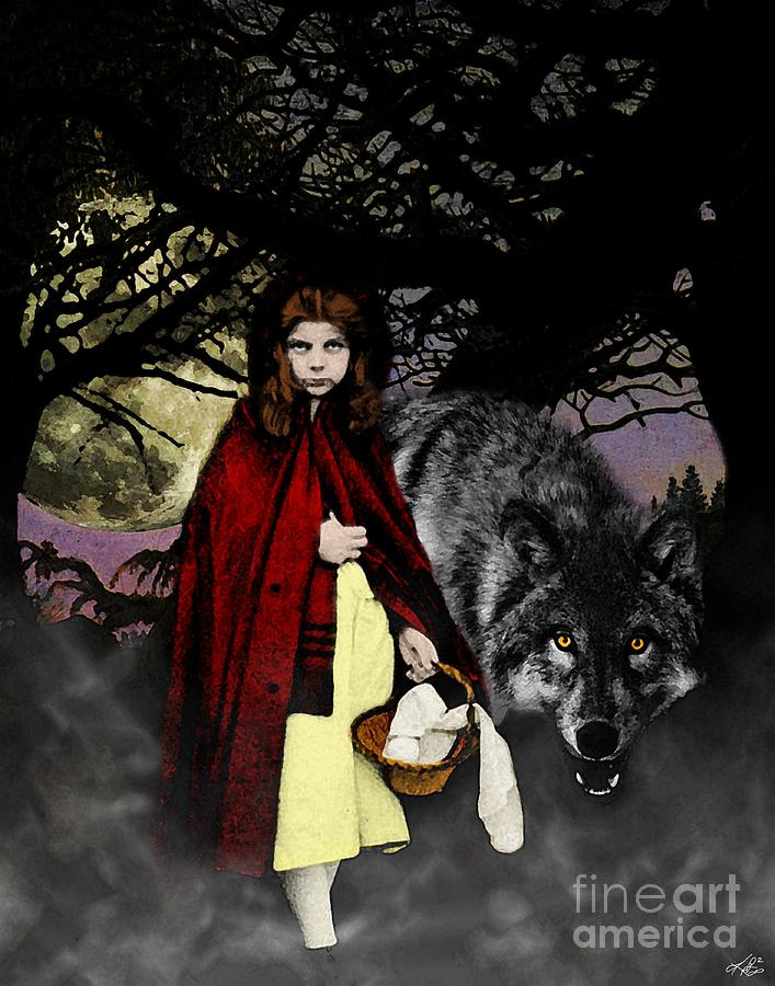 Red Riding Hood Digital Art - Red Riding Hood by Kenneth Rougeau