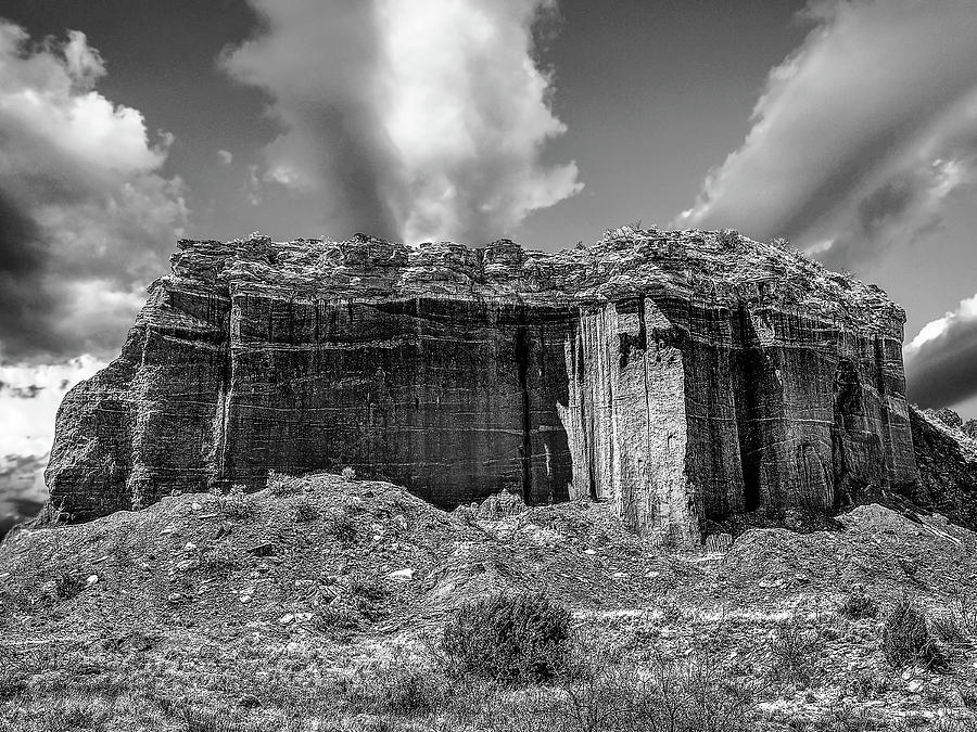 Nature Photograph - Red Rock BW by Scott Cordell