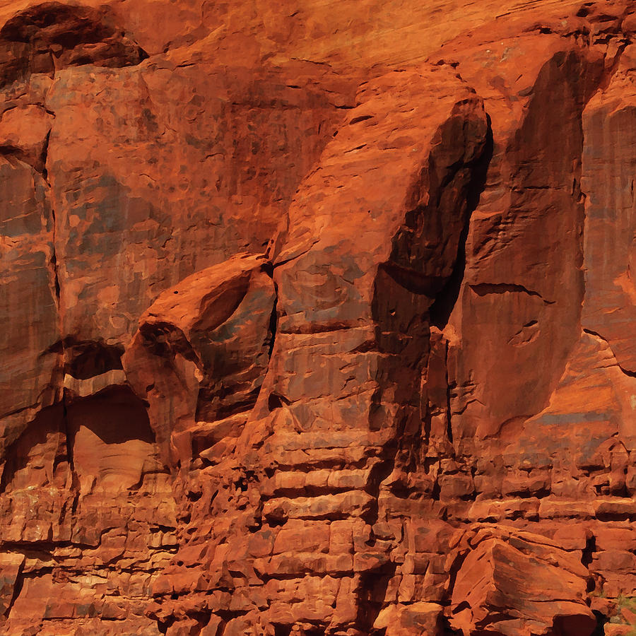 Red Rock Formations Abstract by Tikvah's Hope