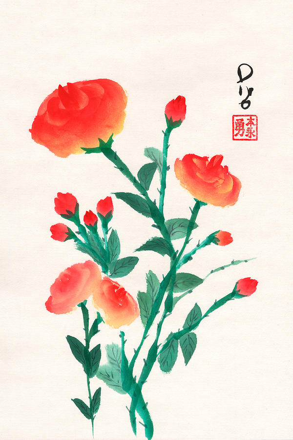 Red Roses by Derek Motonaga