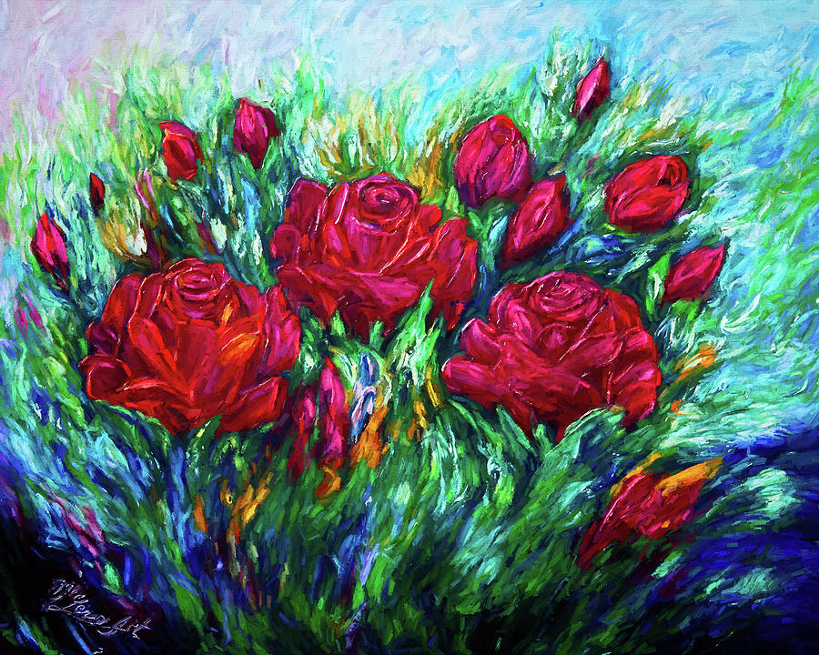 Red Roses by OLena Art - Lena Owens