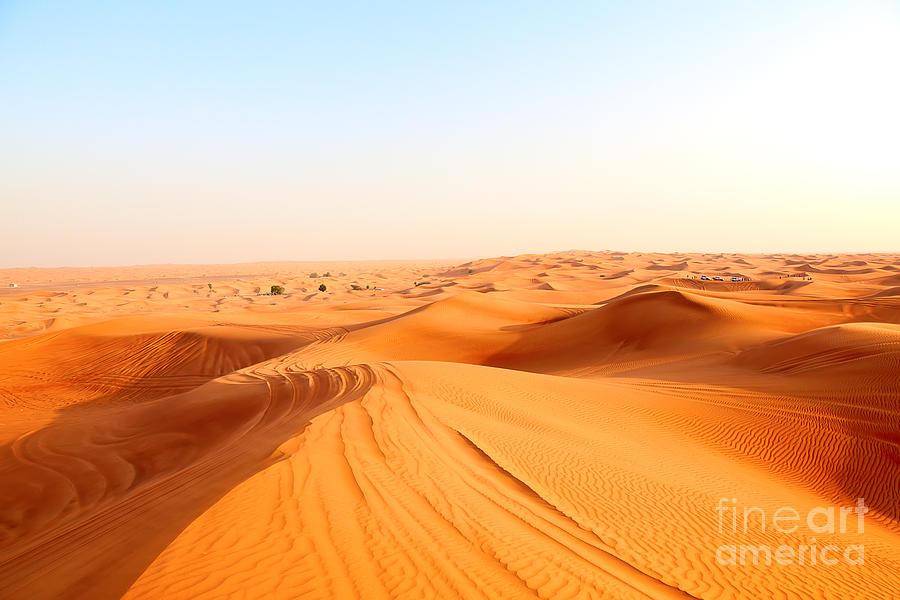 Oasis Photograph - Red Sand Arabian Desert Near Dubai by Fedor Selivanov