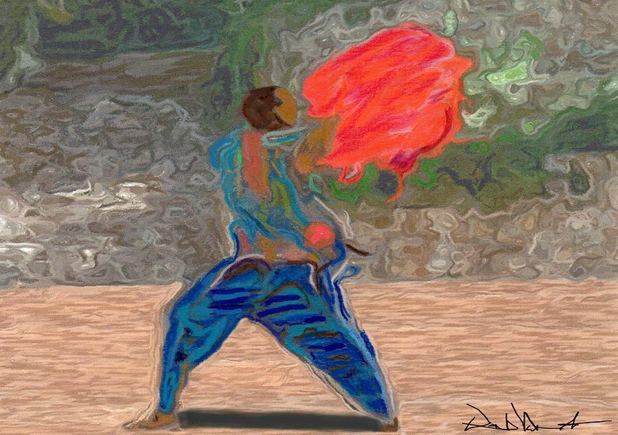Red Scarf Dancer No. 2 by David Valentine